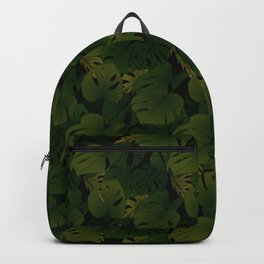 Monstera (Jungle) - Olive x Black Backpack