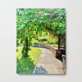 By the Timeless Gardens Metal Print
