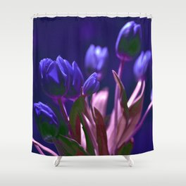 MAGIC BLUE TULIPS Shower Curtain