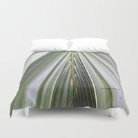 palm Duvet Covers featuring Palm by Autumn Steam