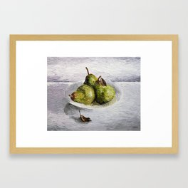 Three Pear Still Life Framed Art Print