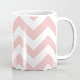 Tea rose - pink color - Zigzag Chevron Pattern Coffee Mug