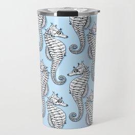 Blue Seahorses Travel Mug