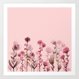 For Her ! Pink Flowers Art Print