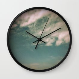 Minimal Clouds Wall Clock