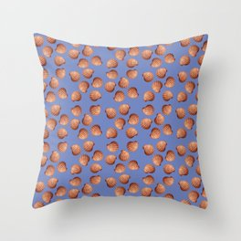 Blue Small Clams Illustration pattern Throw Pillow
