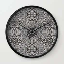 Black and White Trippy Pattern Wall Clock