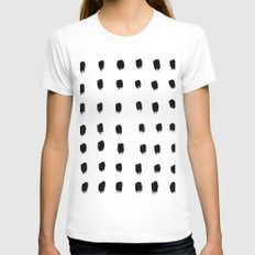 Jacques Pattern - Pure White White LARGE Womens Fitted Tee