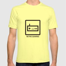 retro gaming Mens Fitted Tee Lemon MEDIUM