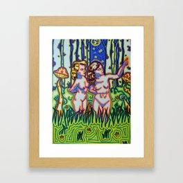 Psychedelic Chicks Framed Art Print