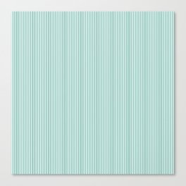 Mint Sampler Stripes Canvas Print