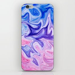 Pink & Blue Violet Marble Art iPhone Skin