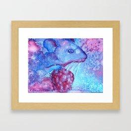 blue mouse Framed Art Print