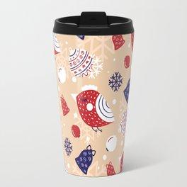 Merry pattern Travel Mug