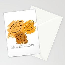 Leaf Me Alone Stationery Cards