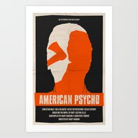 american psycho Art Prints featuring American Psycho by Bill Pyle