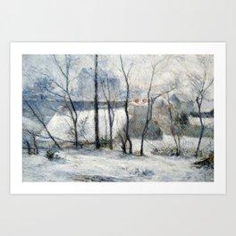 Paul Gauguin - Garden under Snow Art Print