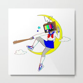 Wannabe Heroine by bluethebone Metal Print