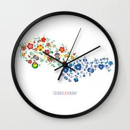 českosLOVEnsko Wall Clock