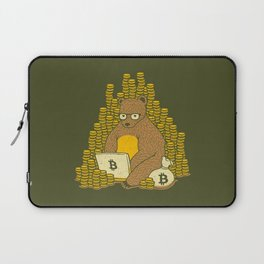Bitcoin Miner T-shirt Bear Laptop Sleeve