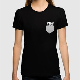 Puppy and Kitten Pocket Square Cute Graphic T-shirt T-shirt