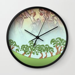 MADRONA SKY AND SKETCH NOTES ABSTRACT Wall Clock
