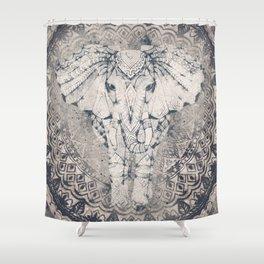 Indian Elephant Mandala Shower Curtain