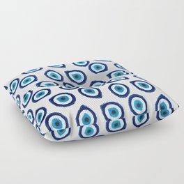 Evil Eye Teardrop Floor Pillow