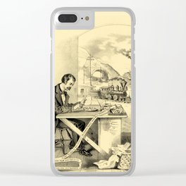 The Progress of the Century (Currier & Ives) Clear iPhone Case