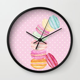 MACARONS & STARS Wall Clock