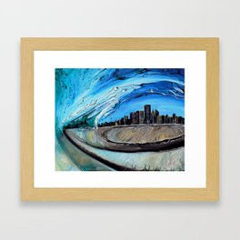 Chicago Through Wave Framed Art Print