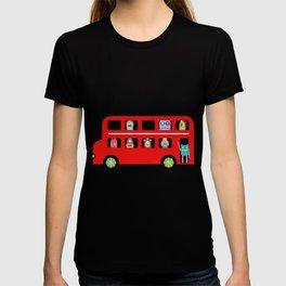 PINTMON_DOUBLE DECKER BUS  T-shirt