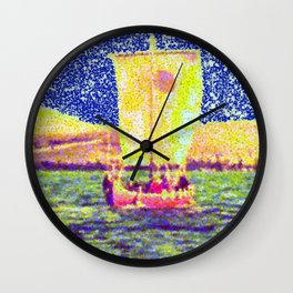 Sail Away Abstract Daydream Wall Clock