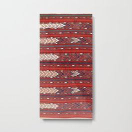 Yomut Flatweave Southwest Turkestan Kilim Print Metal Print