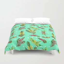 Australian Native Floral Pattern Duvet Cover