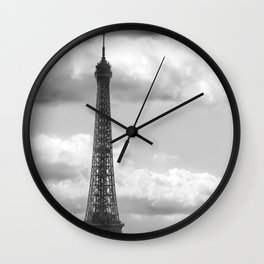 Eiffel Tower from rooftop of Galeries Lafayette Wall Clock