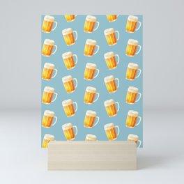 Ice Cold Beer Pattern Mini Art Print