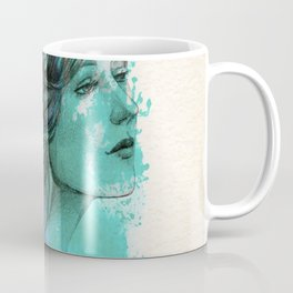 Woman with floral wreath in watercolor Coffee Mug