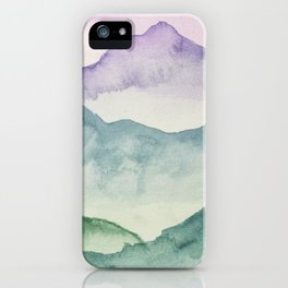 Hills and Valleys iPhone Case
