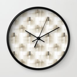 3D pattarn with freehand texture Wall Clock