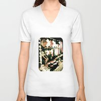 lanterns V-neck T-shirts featuring Legs & Lanterns  by Ethna Gillespie