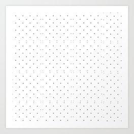 Black white geometrical polka dots modern pattern Art Print