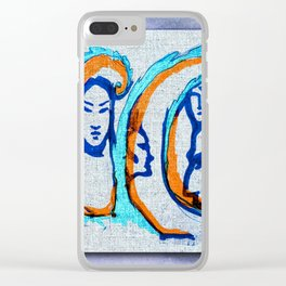 Ruling the waves Clear iPhone Case