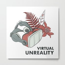 Virtual unreality Metal Print