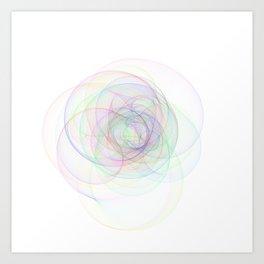 Rainbow Rings 3 Art Print