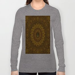 I only say it once its leather in a pattern style. Long Sleeve T-shirt