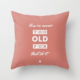 80's Movie Motivation: Murtaugh Throw Pillow