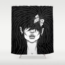 Girl With a Ribbon  Shower Curtain