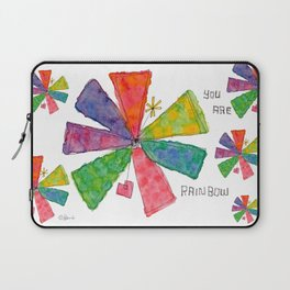 You Are Rainbow flower illustration floral pattern self-love pride Laptop Sleeve