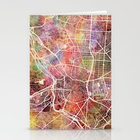 madrid Stationery Cards featuring Madrid by MapMapMaps.Watercolors
